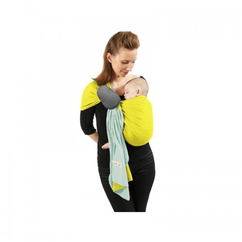 Sling PESN (petite écharpe sans nœud) jaune lumineux - vert minéral
