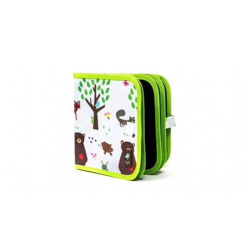 Carnet de coloriage réutilisable - forêt