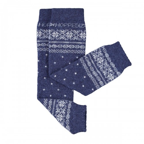 Jambière laine - mérino / cachemire bleu
