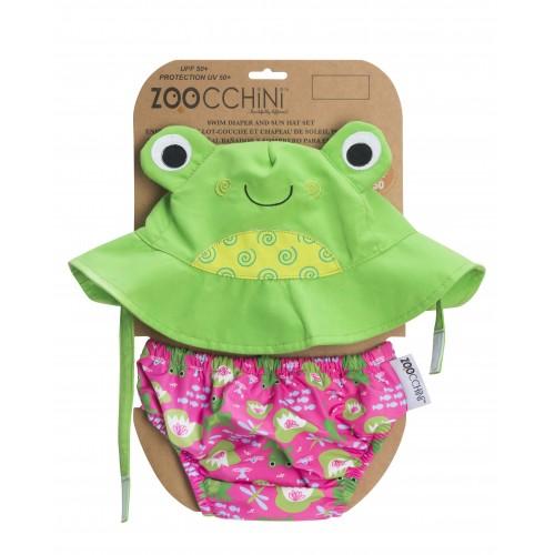Maillot de bain + chapeau assorti grenouille
