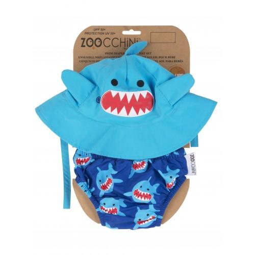 Maillot de bain + chapeau assorti requin