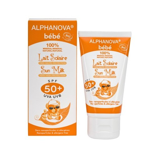 """Crème solaire bébé 50+ """"Alphanova"""""""