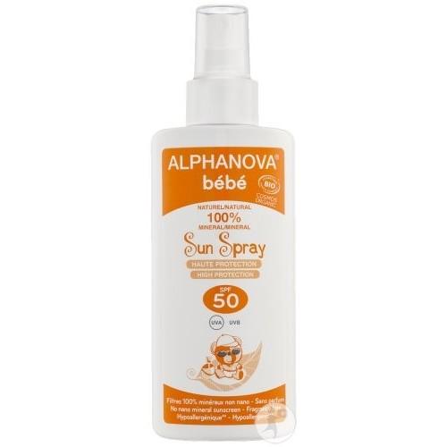 """Crème solaire bébé spray 50 """"Alphanova"""""""