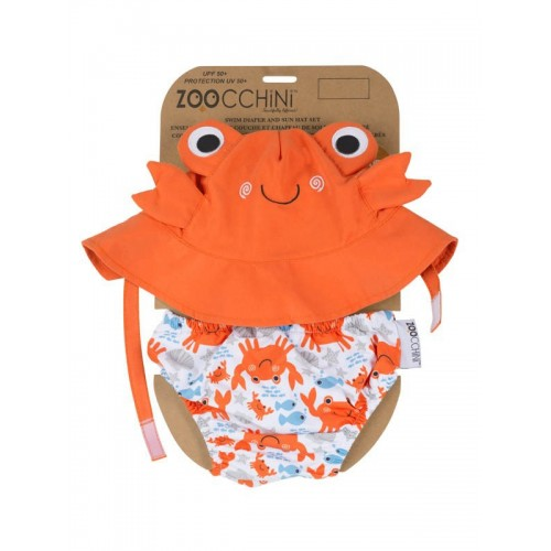 Maillot de bain + chapeau assorti crabe