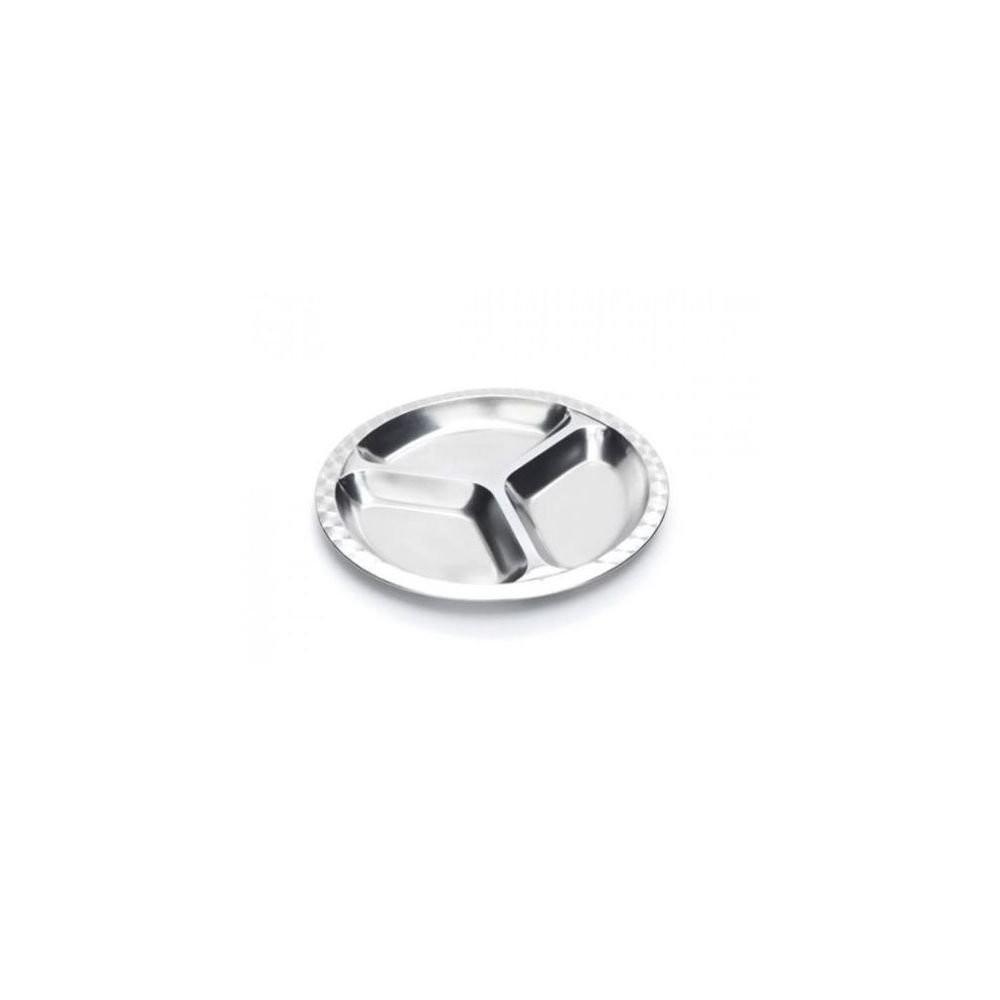 assiette compartimentée inox